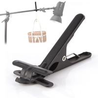 backdrop stand - Metal Backdrop Clamp Clip w Hook for Photo Studio Photography Background Stand