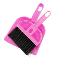 Wholesale NFLC Amico Office Home Car Cleaning Mini Whisk Broom Dustpan Set Pink Black
