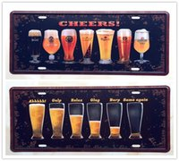 Wholesale 2PCS Varied Beers Same Again Metal Tin Sign License Plate Man Cave Home Bar Wall Decor Plaque Art Poster