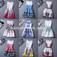 Wholesale DHL free ship Plus Size Women Printed Sleeveless Vest Dress colors Vintage O neck Vestido De Festa Women Summer Sexy Maxi Boho Dresses