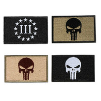 Wholesale 2015 Hot Sale Low Price Punisher Skull SWAT OPS Military Tactical Morale Patches Decorations