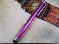 Wholesale 2015 new for Iphone S C Ipad Capacitive stylus pen colorful touch pen for Tablet PC DHL fast shipping