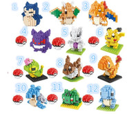 app game - Pokémon Building Blocks Tiny Childern Toys App Game Poke mon Go Mini Blocks Toy Pocket Monster Toy Pikachu Building Block Kid Gift