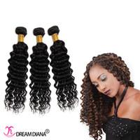 Popular Hairstyle Indian cheveux humains bouclés bouclés 3bundles cheveux humains trame 8a double trame profonde tissage extensions de cheveux très épais bout pas de tangle