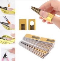 Wholesale 500PCS Nail Art tips rectangle Forms guide tool acrylic UV Gel Sticker