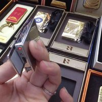 Wholesale Creative Design Multi function Military Kenife Golden Silver electronic Cigarette lighter with Gift Box