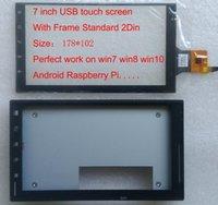 al por mayor pantalla táctil pi-Pantalla táctil capacitiva del USB de 7 pulgadas con el capítulo para el coche CARPC win7 win8 win10 pantalla táctil del dedo de la frambuesa Pi 5 del liunux del androide