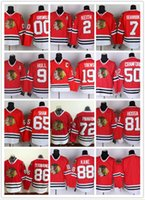 Wholesale NHL Chicago Blackhawks Jonathan Toews Kane Panarin CRAWFORD Hull Red Black White Gray Hockey Jerseys Ice Stitched Mix Order