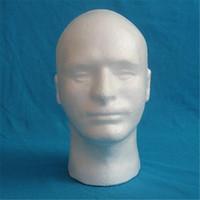 Wholesale Hot Sale Tall Male Foam Styrofoam Mannequin Head Glasses Hat Wig Display Lightweight Stand Model