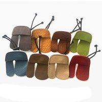 Wholesale random color Cow Leather Archery Finger Guard Protection Pad Glove Tab Bow Shooting