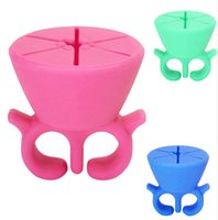 Wholesale Nail Polish Bottle Holder Tips Polish Varnish Stand Holder Pink Green Blue K5BO