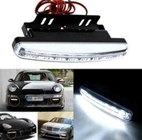 Wholesale 2016 New Hot A set of only K Car Led Daytime Driving Running Light LED DRL Car Fog Lamp Waterproof White Light DC V Freeshipping