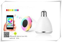 Wholesale LED bulbs Wireless Bluetooth music play Smart situation E27 LED lamp BL A mobile APP Control Speaker Various Colors For IOS Android