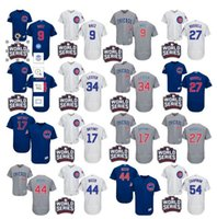 Wholesale 2016 World Series patch Men Chicago Cubs Chapman Javier Baez Kris Bryant Rizzo Lester Russell baseball jerseys Stitched S XL
