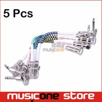 amp patch cord - 5pcs High Quality Guitar Patch Cable Effects Pedal Cords AMP Cord