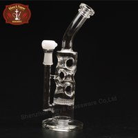 beaker handle - Creative Handle Glass Bongs Heady Beaker Inch Height Glass Bongs Water Pipes with Joint Recycler for Adult MX001