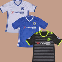Wholesale 2016 Chelsea Club Team Home Blue Away Black Third White Football Soccer Jerseys Shirt HAZARD DIEGO COSTA MATIC TERRY KANTE FABREGAS IVANOVIC