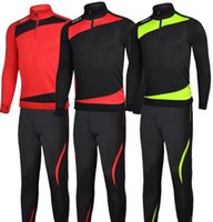 Wholesale Football training suit The spring and autumn period and the jogger long sleeved jacket football training suit children and adults