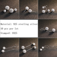 ball earrings silver chain - 2016 fashion double ball earrings long chain design earring mm mm mm mm ball designs for women