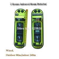baluster system - Outdoor m Indoor m promotional infrared baluster beam detector for alarm gsm pstn home security alarm system