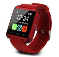 Wholesale 2016 Bluetooth U8 Smart Watch sport running Timing IOS Phone interconnected Wrist Watch available English And Chinese White black Red choose