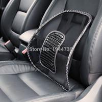 Livraison gratuite! R1B1 Noir Mesh Cloth Coussin de siège de voiture Lumbar Waist Back Support Lumbar Oreiller