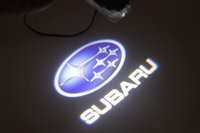 Wholesale 2pcs promotion SUBARU car logo door light LED Welcome Light ghost shadow light laser lamp Forester Outback Legacy XV IMPREZA TRIBECA