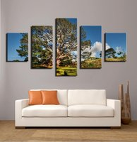 art meadows - Hot sell panel tree sky meadows oil painting on canvas modern wall art picture for home decor