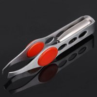 Wholesale Stainless Steel Make up Eyebrow Tweezers with Built in LED Light Eyelash Eyebrow Removal LED Tweezers Tools