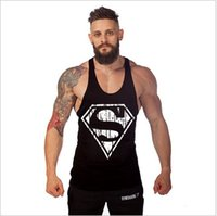 Wholesale New fashion cotton Gym sleeveless shirts Gym Singlets Bodybuilding Equipment Fitness Men s Golds Gym Stringer Tank Top Sports Clothes