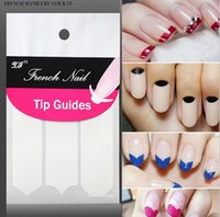 beauty wave pack - New DIY French Manicure Nail Art Tips Tape Sticker Guide Stencil Masking Decal Beauty Tools Smile Round Wave color white pack SZ N01