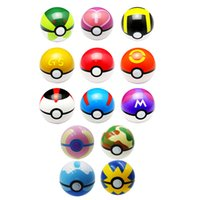 Wholesale cm Monster Ball Poke Ball Fans Collection Birthday Gift Toy Pikachu Bulbasaur Charizard AR TOY