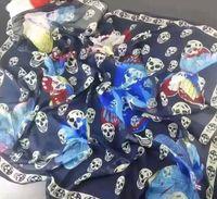 butterfly scarf silk - HOT shawls butterfly Satin scarves winter long scarf shawl Women Scarves Fashion Brand Skulls Silk Scarf Women Scarf Long Shawl XMAS