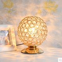 Wholesale K9 Crystal Table Lamp Light Creative Table Lamp Decoration Lighting For Study Bedroom E27 LED Bulb