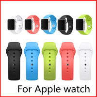 Wholesale Wrist Wearables Smart Watch Apple Watch Silicone Straps Band Watchband For Apple Watch iWatch mm mm VS Fitbit Blaze Alta Silicone Straps