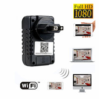 Wholesale Wireless WiFi IP P2P HD1080P Spy Hidden Wall Charger Adapter Camera Video Recorder Mini DV DVR Portable Surveillance Security Camcorder