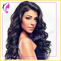 Wholesale Fashion Wavy Virgin Brazilian Hair Glueless Lace Front Wig Full Lace Human Hair Wigs For Black Women top quality