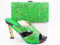 bags dress shoes - VIVILACE summer dress shoes Hot sell shoes matching bags Italy design shoe and bag set with shinning stones