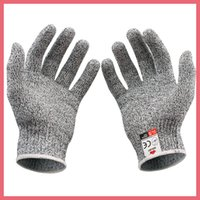 Wholesale 2 Nocry Cut Gray Stainless Steel Wire Safety Cut Resistance Works Working Gloves Anti Slash Gloves DHL Free