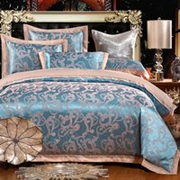 Wholesale Luxury style cotton satin jacquard cotton quilt embroidered linens Continental gifted Kasi sheet