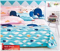 Wholesale New Arrival Hot sale pure cotton woven cartnoon fitted bed sheet cloth