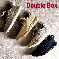 Wholesale Double Box Highly Anticipated Boost Sneaker on sale Kanye West Shoes Athletic Shoes with Box Bag Keychain Socks and Receipt