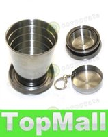Wholesale LAI Best Price Stainless Steel Cup Travel Camping Folding Collapsible Cup Traveling Cup