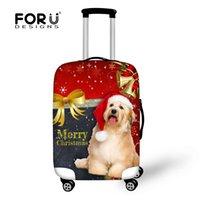 Wholesale Christmas cute adorable pet series luggage protector Merry Christmas Christmas gift box