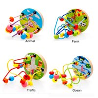 Wholesale baby boys girls montessori wooden toys educational wood puzzles for children kids toy birthday gifts high quality