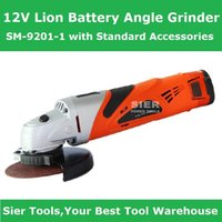 Wholesale 12V Power Tools V Lion Battery Angle Grinder SM with Standard Accessories Sier Angle Grinder CE GS electric Grinder machine