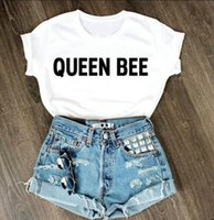 bee tshirt - Harajuku Women Tshirt Queen Bee Letters Funny Cotton Shirt For Lady Top Tee Hipster White BZ203