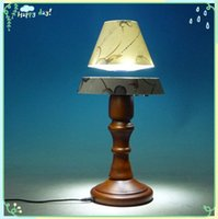 wooden base - 1 dhl free new magnetic levitation wooden base low power working lamp for business gift