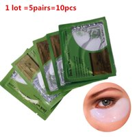 Wholesale 5pairs Dark Circles Anti Puffiness Moisturizing Collagen Eye Mask Deck Out Women Crystal Eyelid Patch Gel Masks for Eye Care