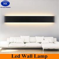 Wholesale 2016 New Designer Black White LED Stairs bedroom living room background lamp lights Aluminum Bathroom mirror light wall sconces